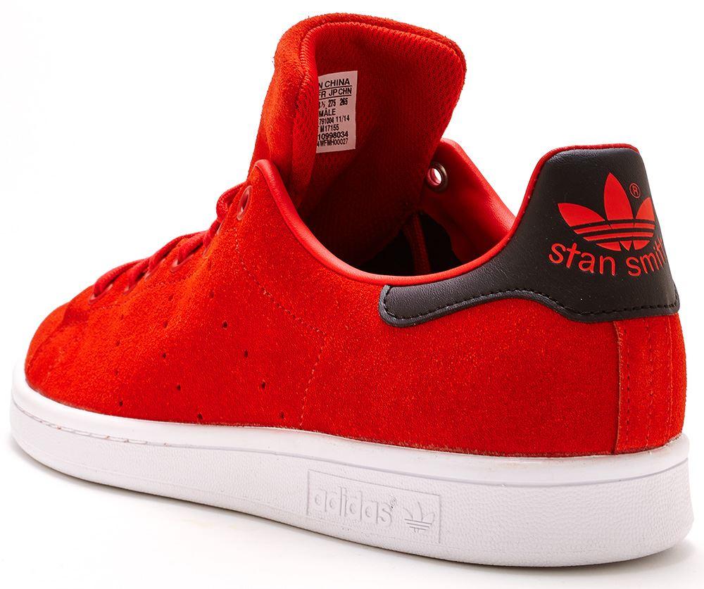 adidas originals stan smith red suede
