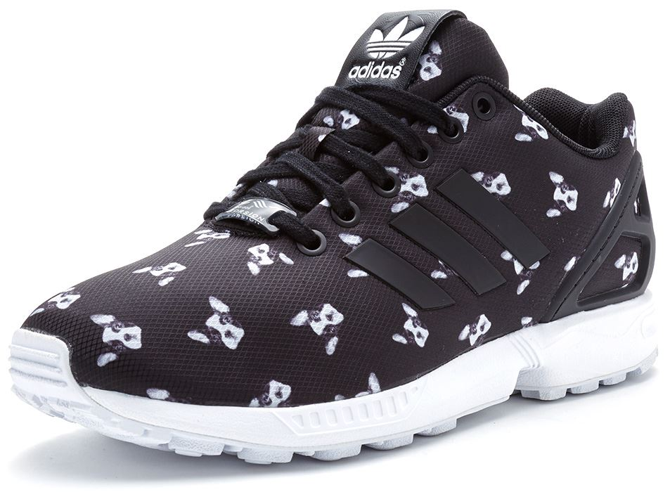 adidas ZX Flux Plus Black White Black 48.uk: Shoes & Bags