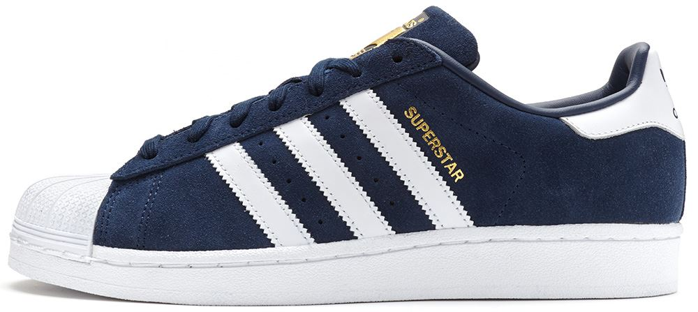 adidas superstar navy blue suede