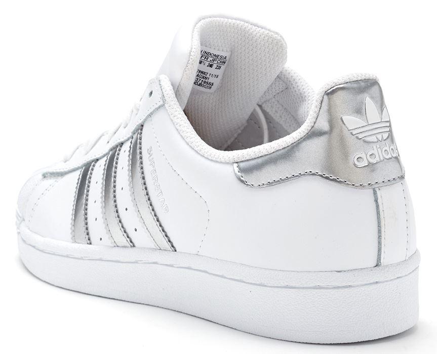 best sneakers a18b1 77c74 Adidas Superstar Silver Stripe