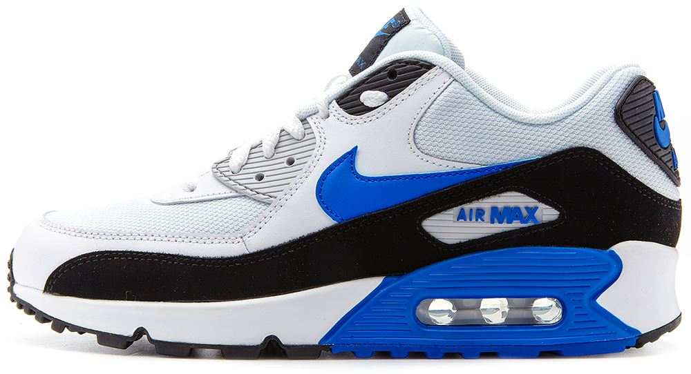 undrp Nike Air Max 90 Essential navy blue & white trainers 537384