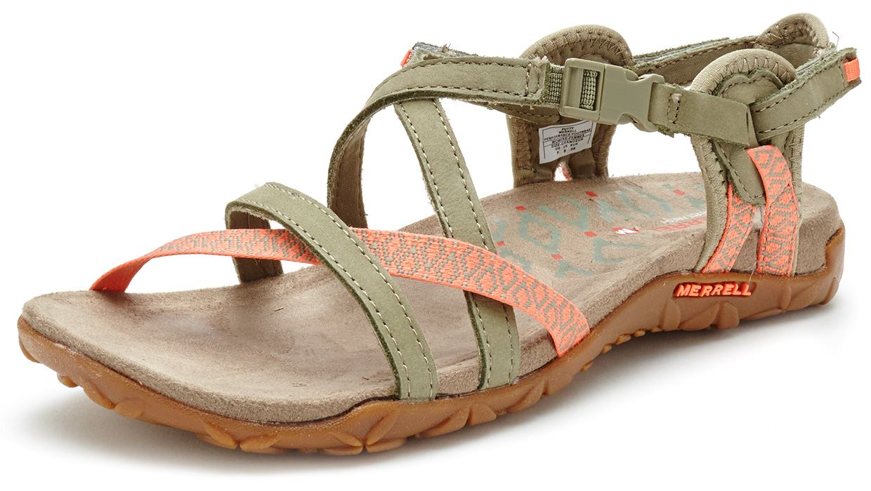 5289c64125fd Merrell Sandspur Terran Lattice   Cross Women Sandals in Leather All ...