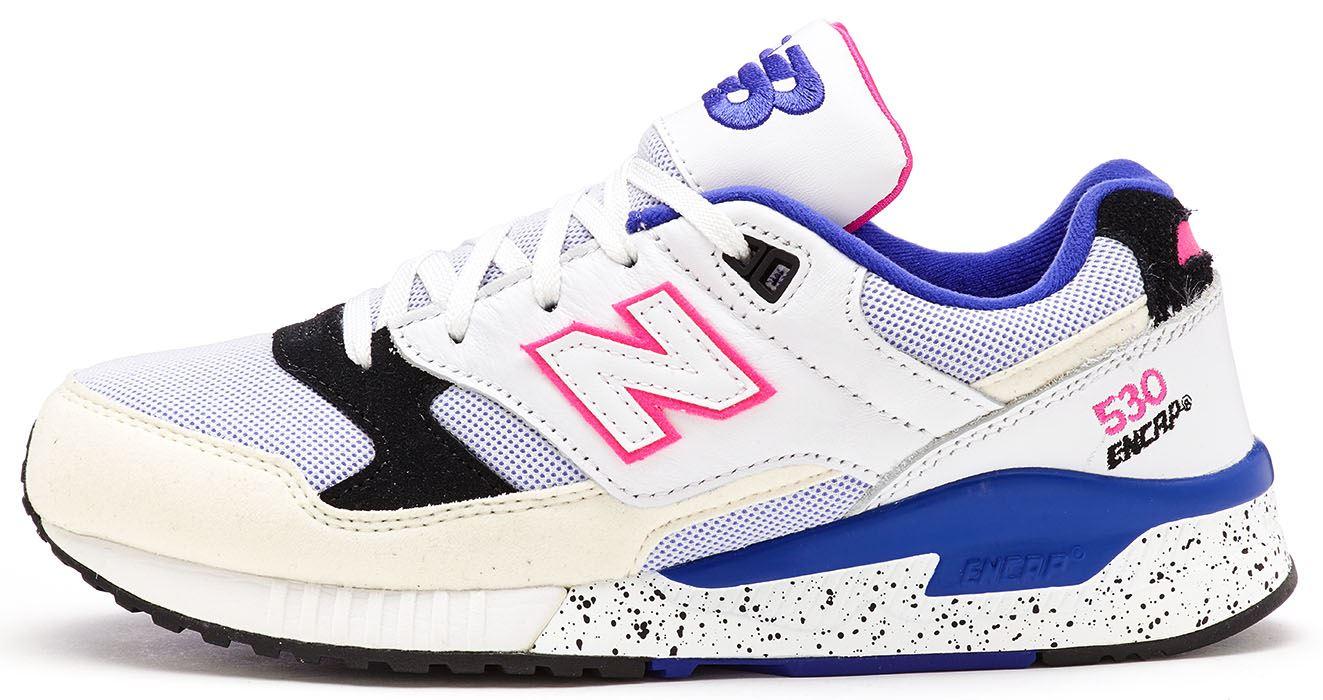 zapatillas new balance azules y rosas