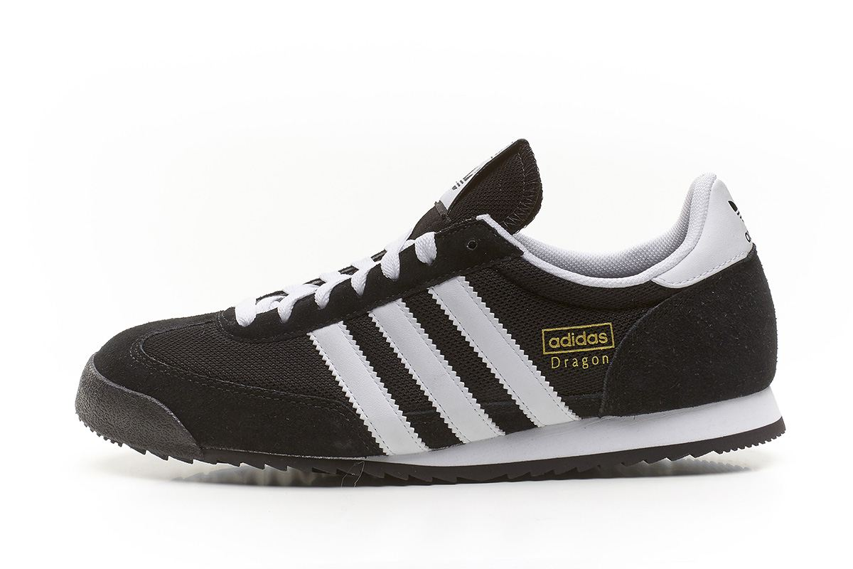 adidas originals dragon retro trainers black white g16025. Black Bedroom Furniture Sets. Home Design Ideas