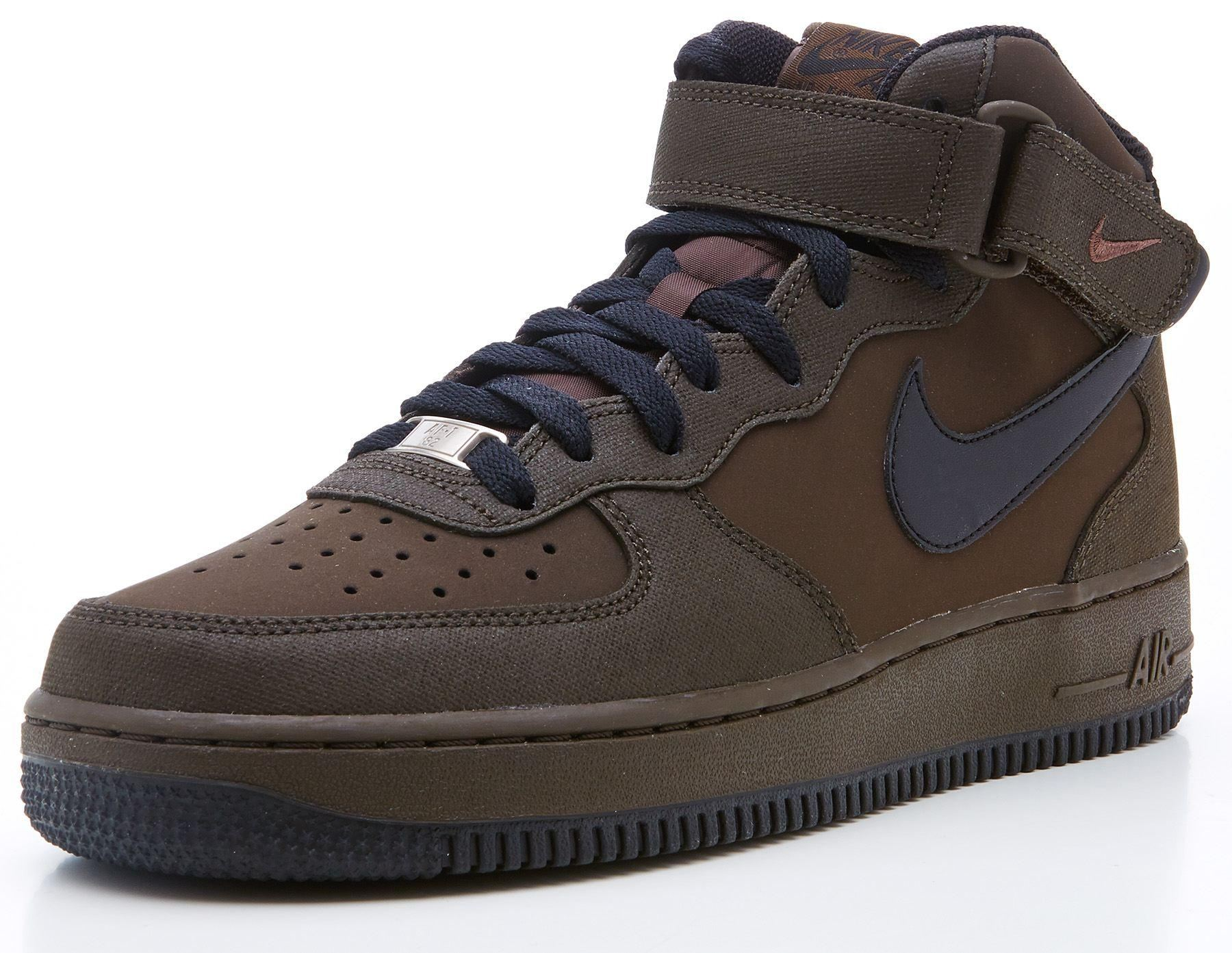 nike air force 1 mid legion brown trainers 315123 202 ebay. Black Bedroom Furniture Sets. Home Design Ideas