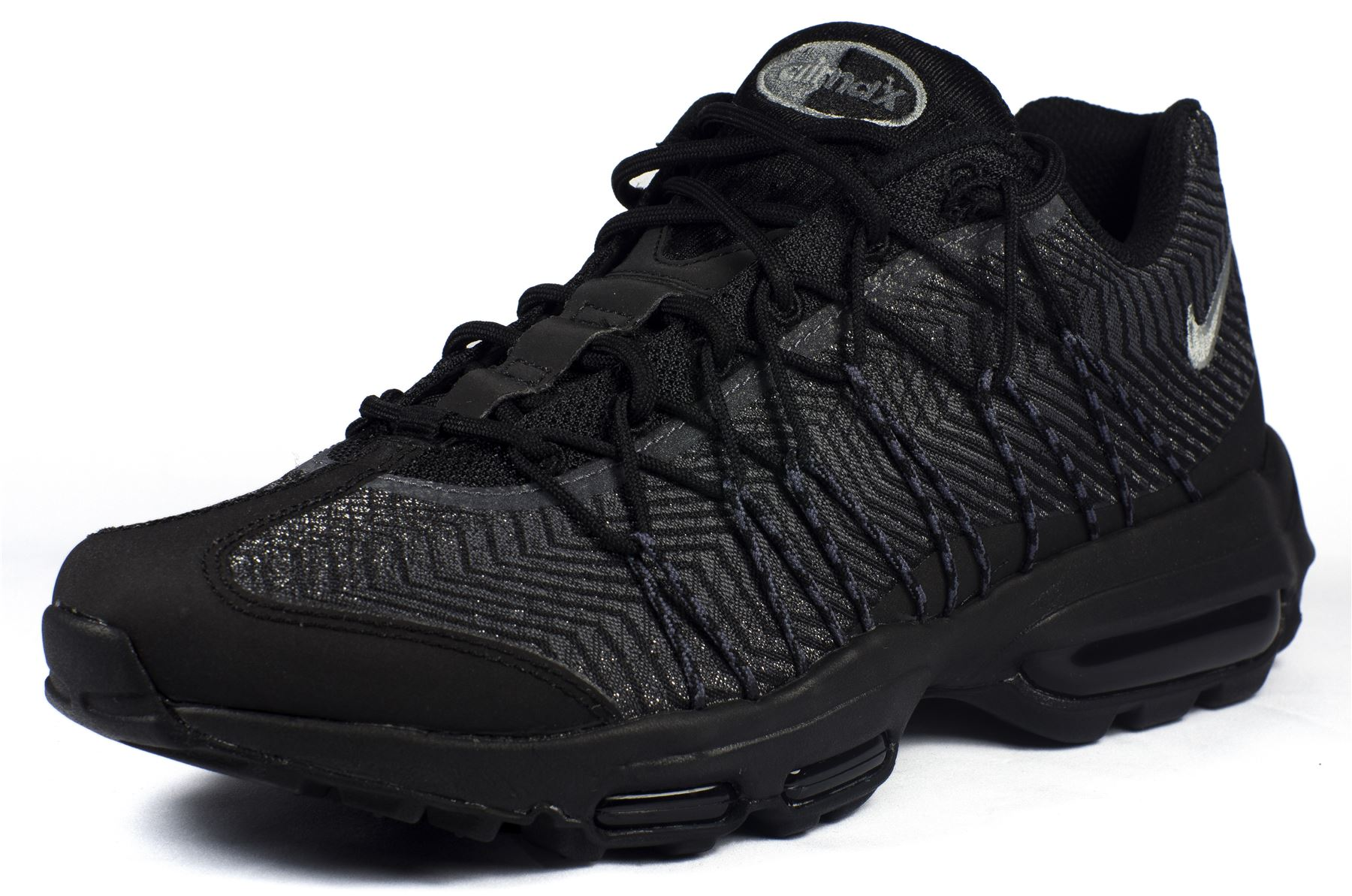 nike air max 95 ultra jacquard in black dark grey silver 749771 001. Black Bedroom Furniture Sets. Home Design Ideas