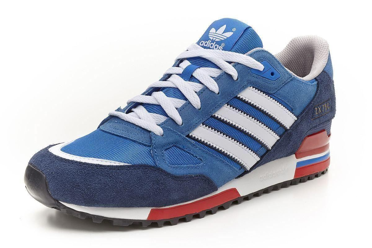 adidas originals baskets homme zx 750 bleu marine blanc et rouge g96718 ebay. Black Bedroom Furniture Sets. Home Design Ideas