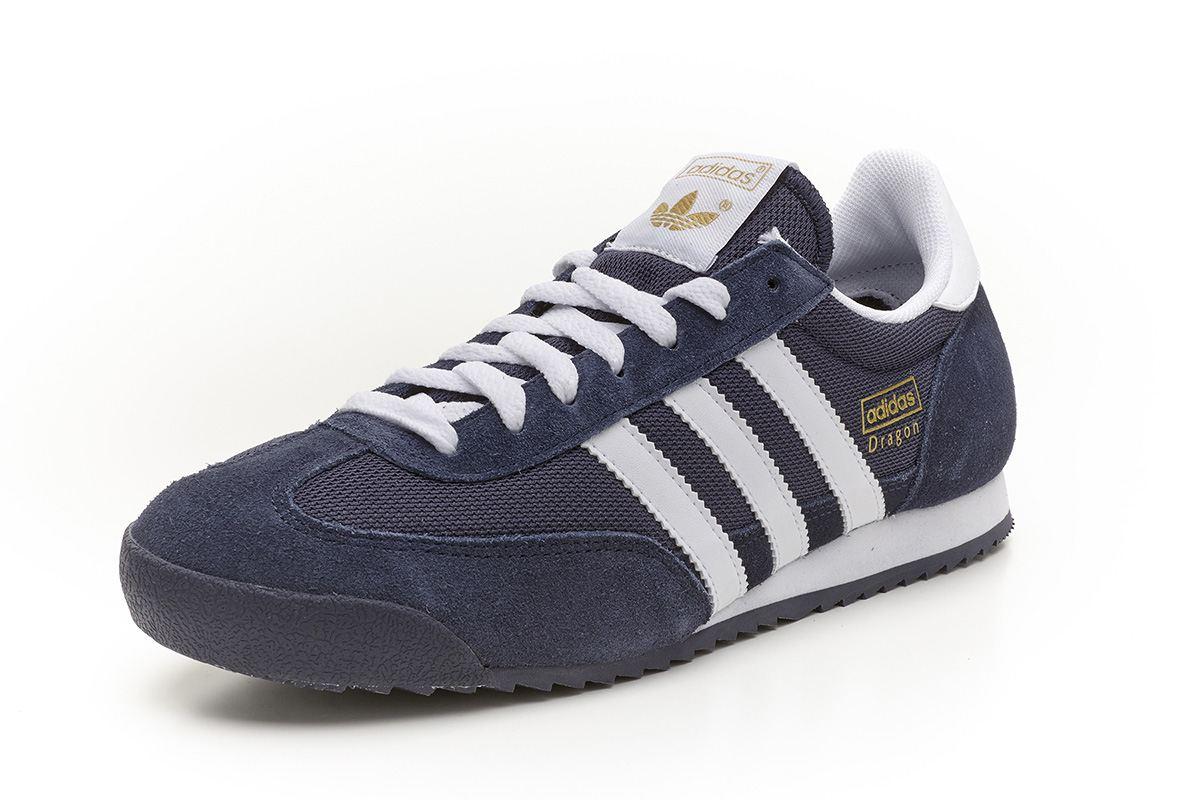 Adidas Originals Dragon retro Sportschuhe marineblau & weiß G50919 ...
