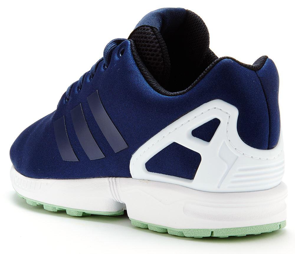 Herren adidas Originals ZX Flux EM Trainers Bright Cyan