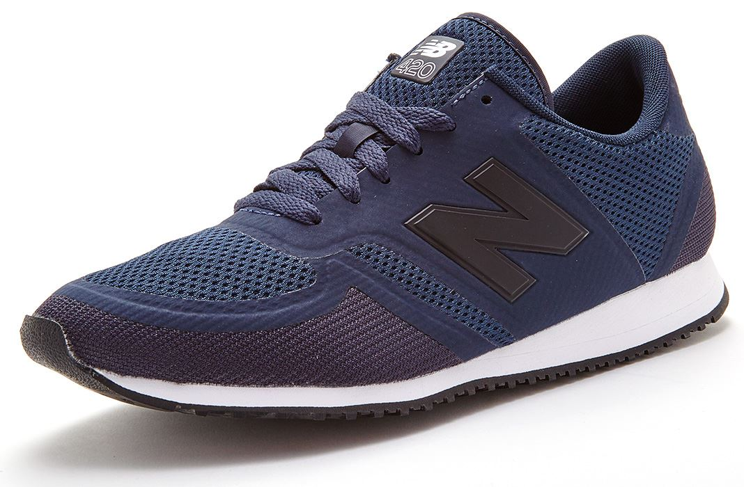 new balance 420 classic trainers in dark blue u420 dan. Black Bedroom Furniture Sets. Home Design Ideas