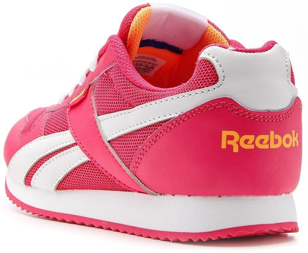reebok classic gs royal jogger retro trainers pink v59272. Black Bedroom Furniture Sets. Home Design Ideas