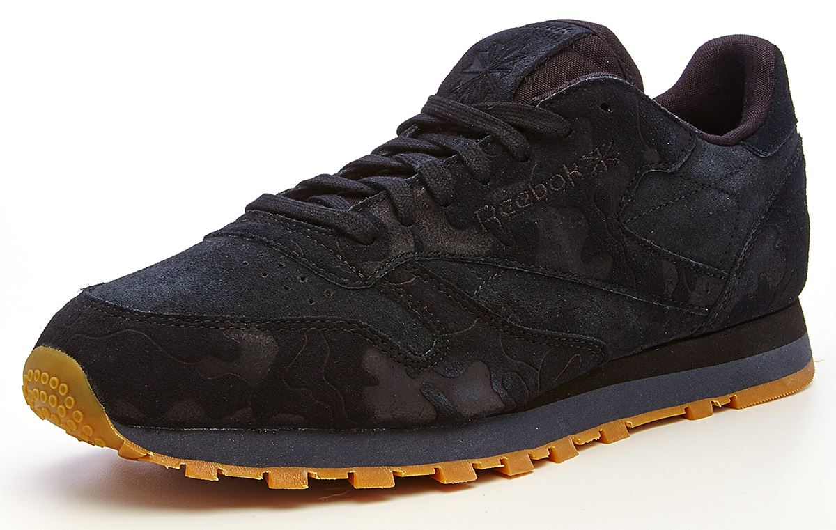 reebok classic suede all black