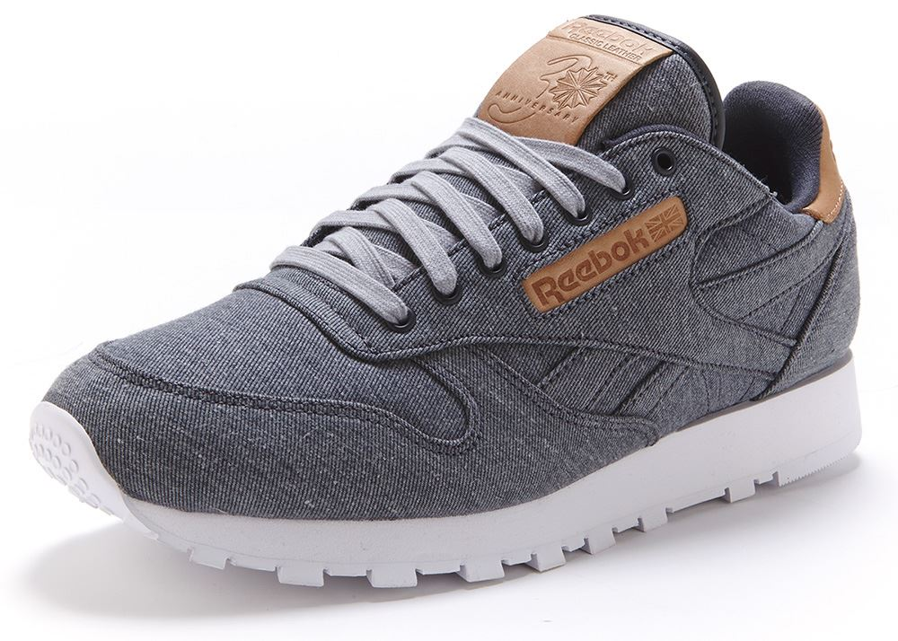 reebok classic leather trainers grey