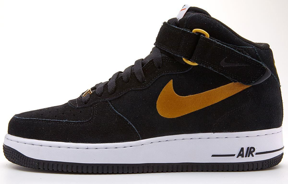 nike air force nere e oro