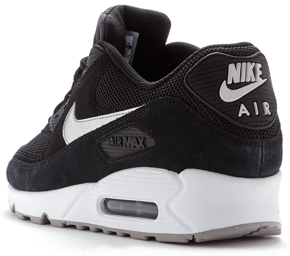 mens nike air max 90 essential premium breathe leather suede trainers all sizes ebay. Black Bedroom Furniture Sets. Home Design Ideas