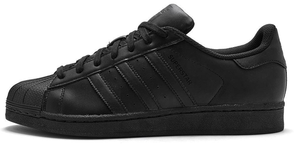 qsdfo Adidas Originals Superstar Foundation Trainers in Core Black