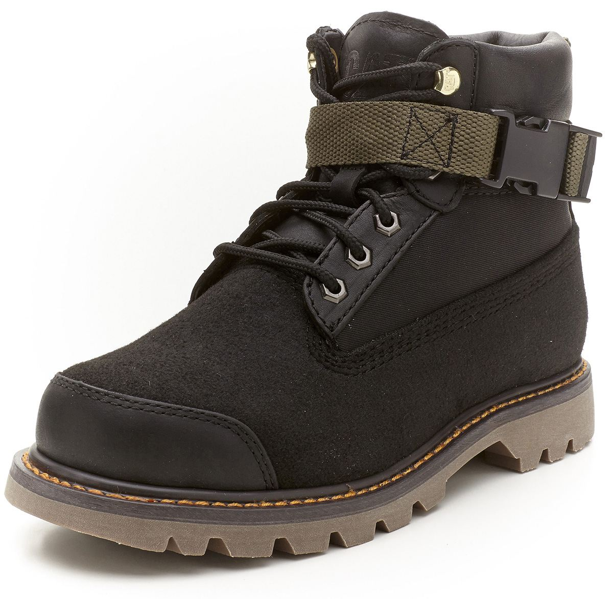 Botas de trabajo caterpillar cat colorado mr negro y gris - Calzado de trabajo ...