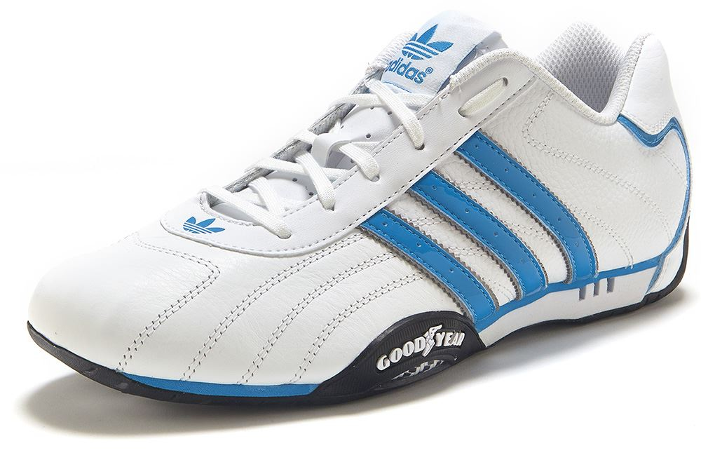 adidas originals goodyear adi racer white blue trainers. Black Bedroom Furniture Sets. Home Design Ideas