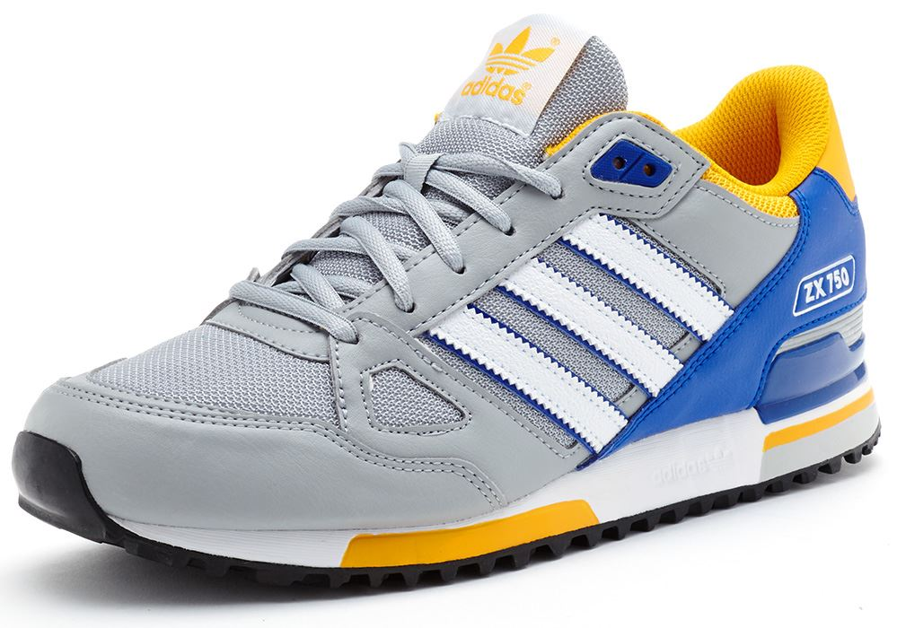 wholesale dealer 09ac2 509e6 Adidas Zx 750 Blue Yellow