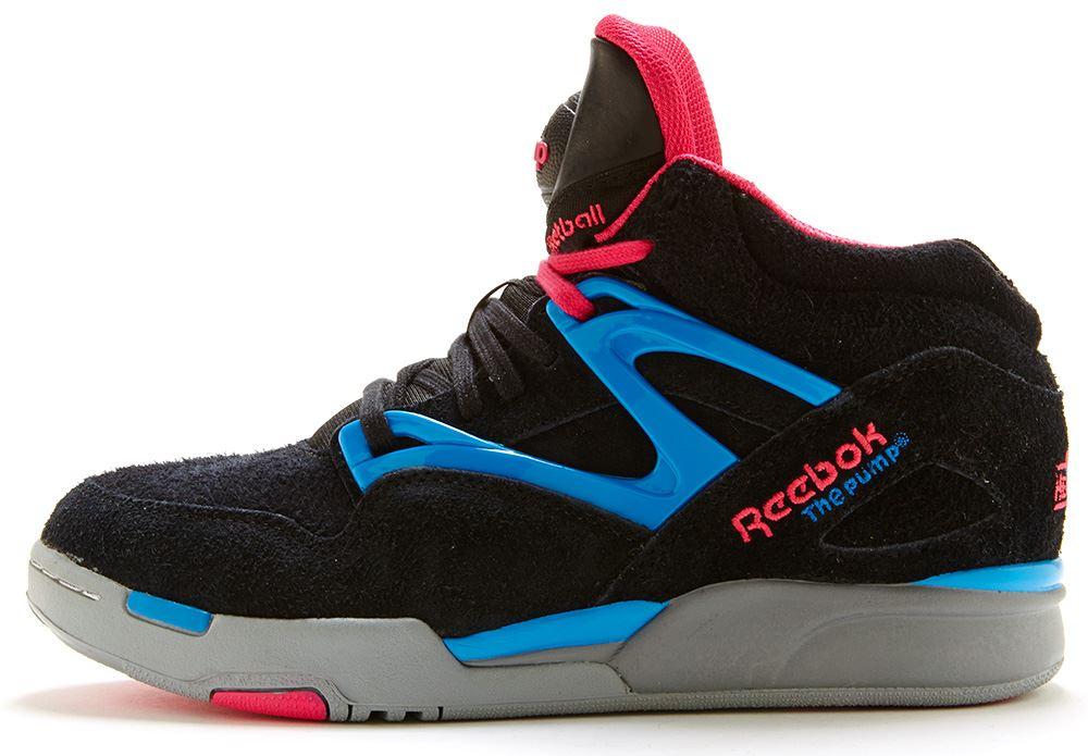 baskets reebok pump omni lite en noir bleu et rose v53789. Black Bedroom Furniture Sets. Home Design Ideas