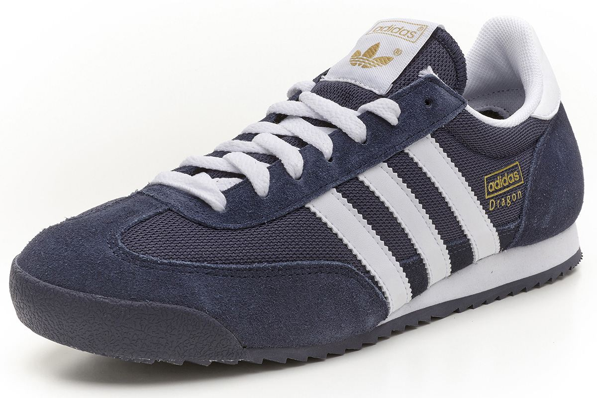 adidas Originals Dragon retro trainers navy blue white G50919  81684564b547