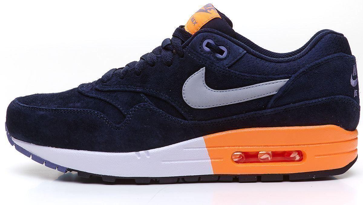 nike shox livrer chaussure de course - Nike Air Max 1 Premium Suede Navy Blue Orange Trainers 512033 400 ...