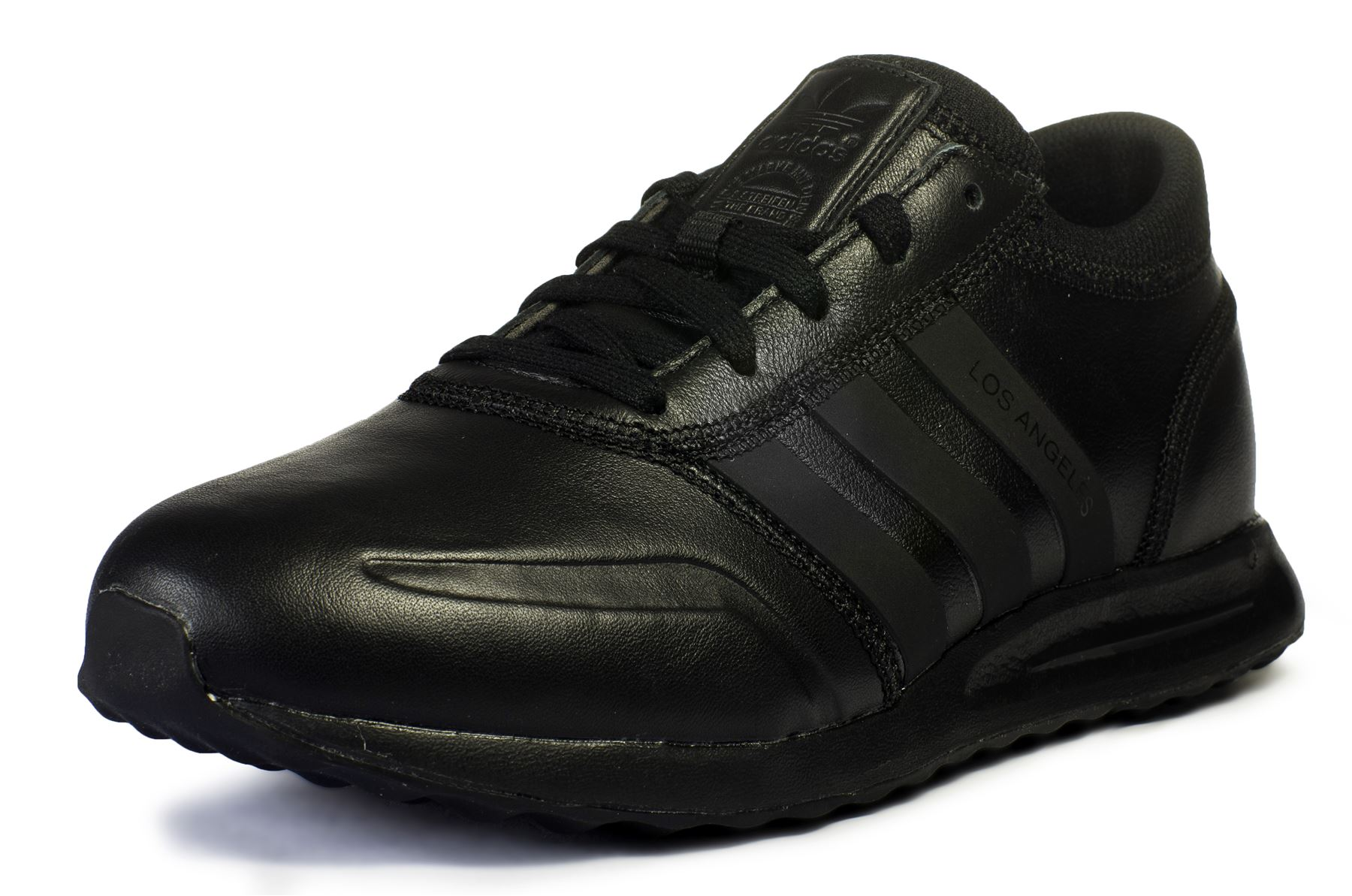 adidas trainer nere pelle