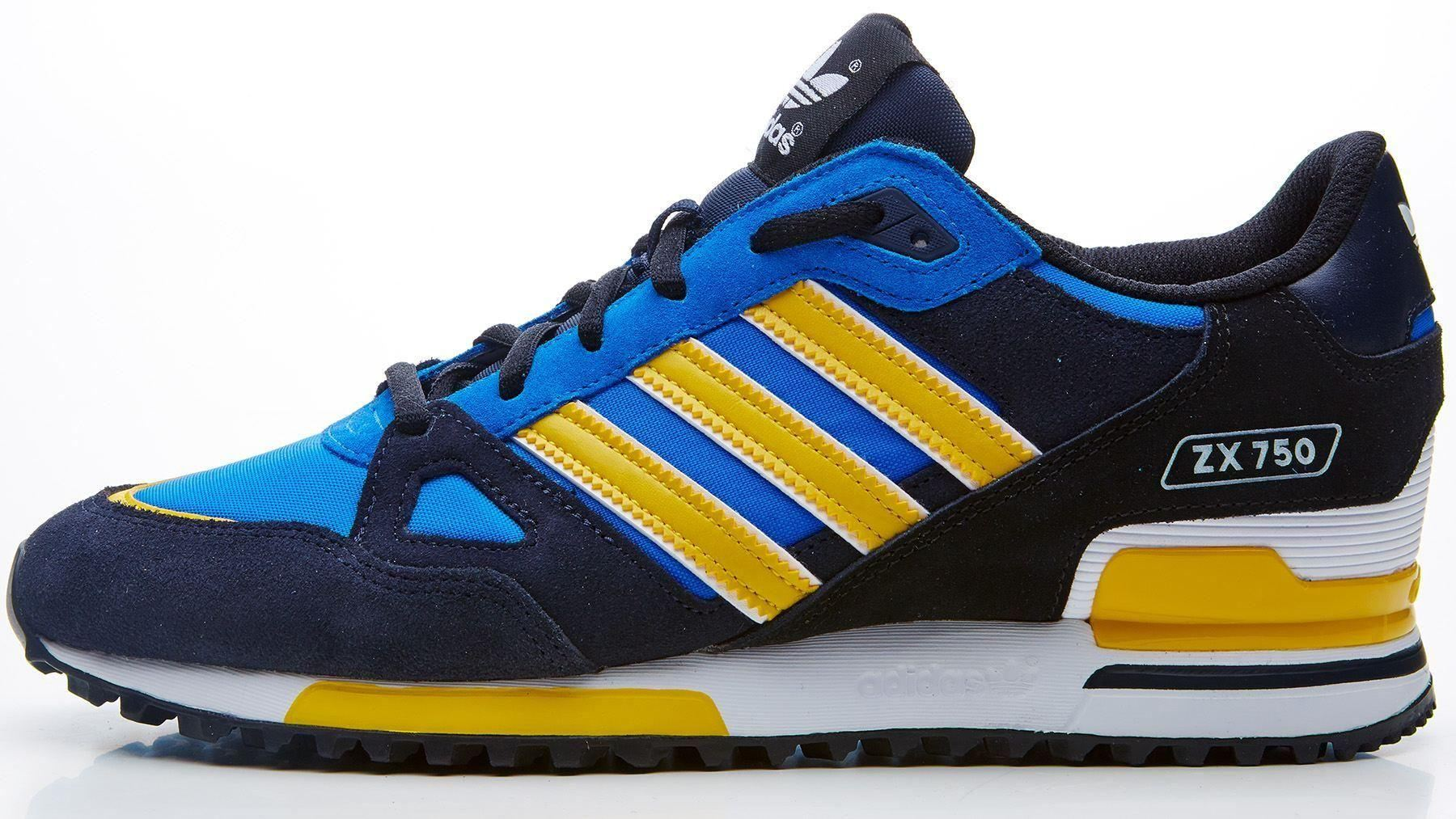 adidas originals men s zx 750 trainers black blue. Black Bedroom Furniture Sets. Home Design Ideas