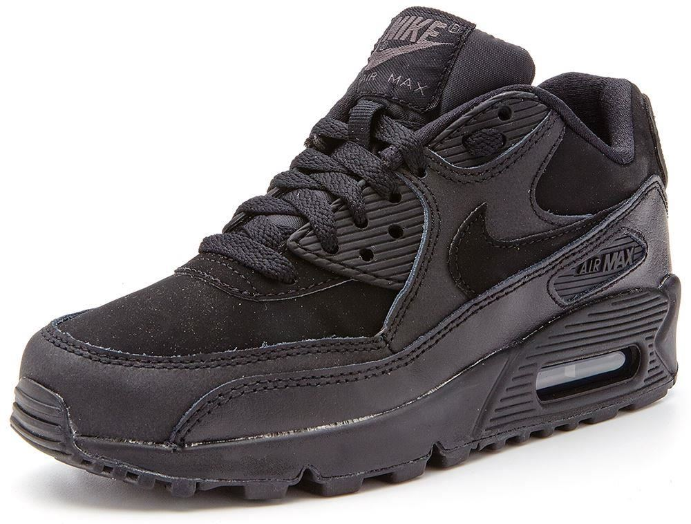 nike air max 90 gs kids black trainers 307793 091. Black Bedroom Furniture Sets. Home Design Ideas
