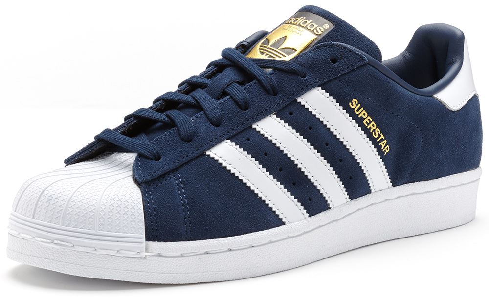 navy blue adidas superstar