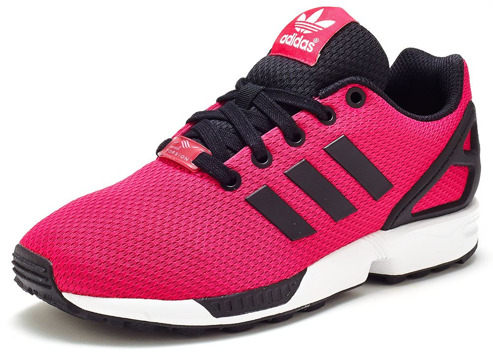 black and pink adidas trainers