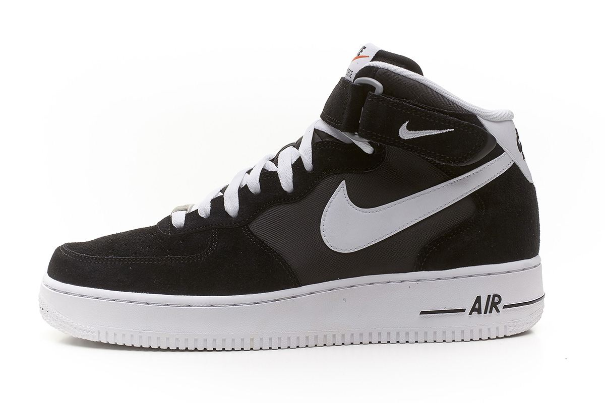online store 9cfa1 a194b Nike-Air-Force-1-Mid-suede-black-amp-