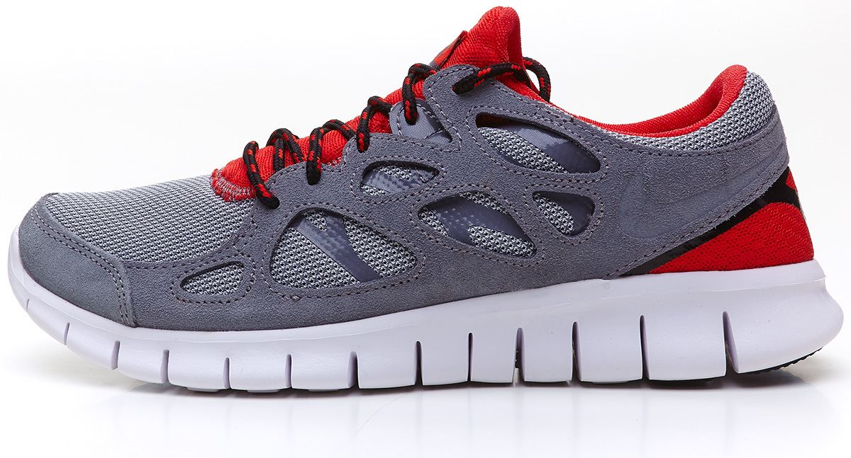 Nike Free Run 2 EXT grey & red running trainers 537732 006