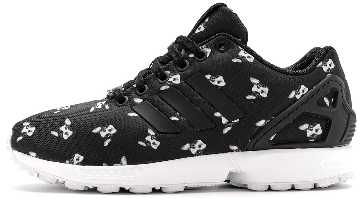 Addidas Black Shoes Dog Print