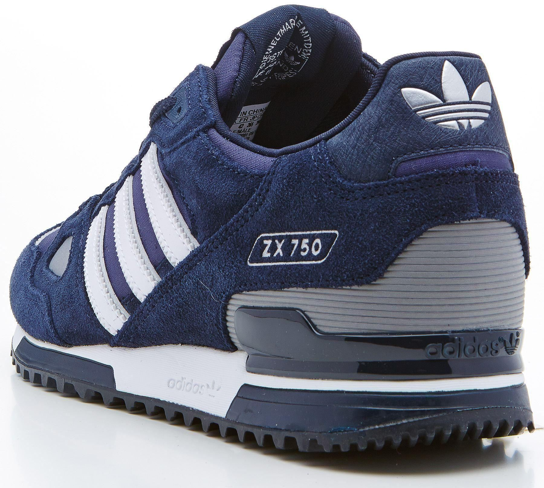 adidas zx 750 trainers navy white lamps plus