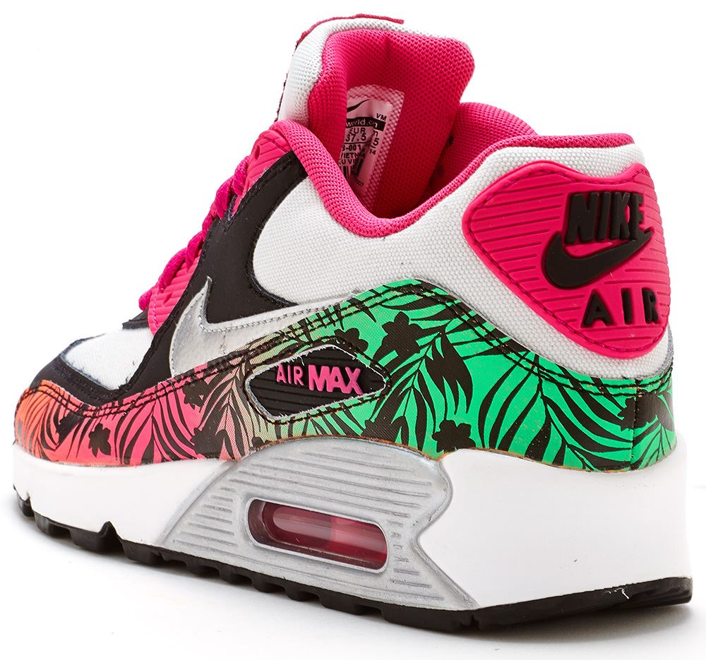 Argent Max Gs Air 90 Print Nike Rose Chaussures 0xHTqww
