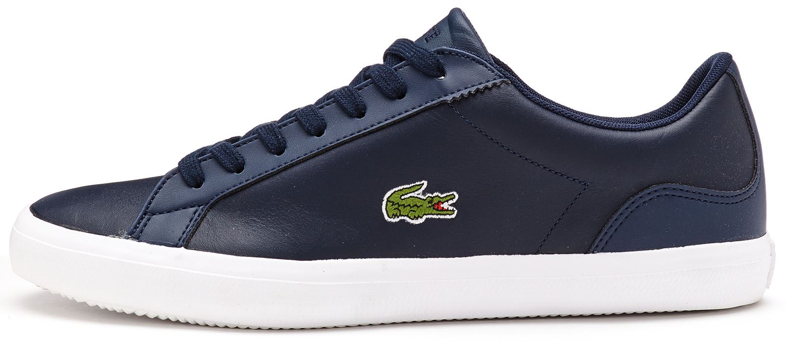 13f1abd852053e Lacoste Lerond BL 1 CAM Leather Trainers in Navy Blue 733CAM1032 003 .