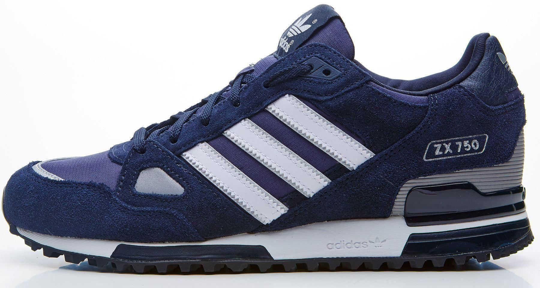 hot sale online 47f13 f08a7 ... Men Adidas ZX 750 Suede Retro Vintage Look Trainers in All Sizes ...