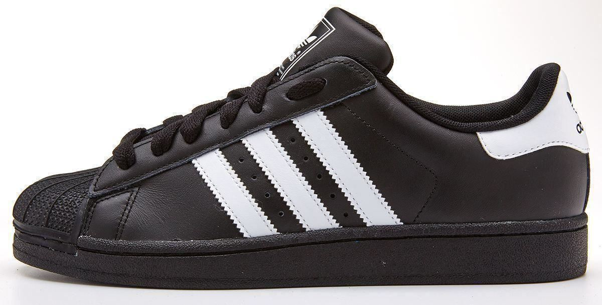 adidas superstars trainers black