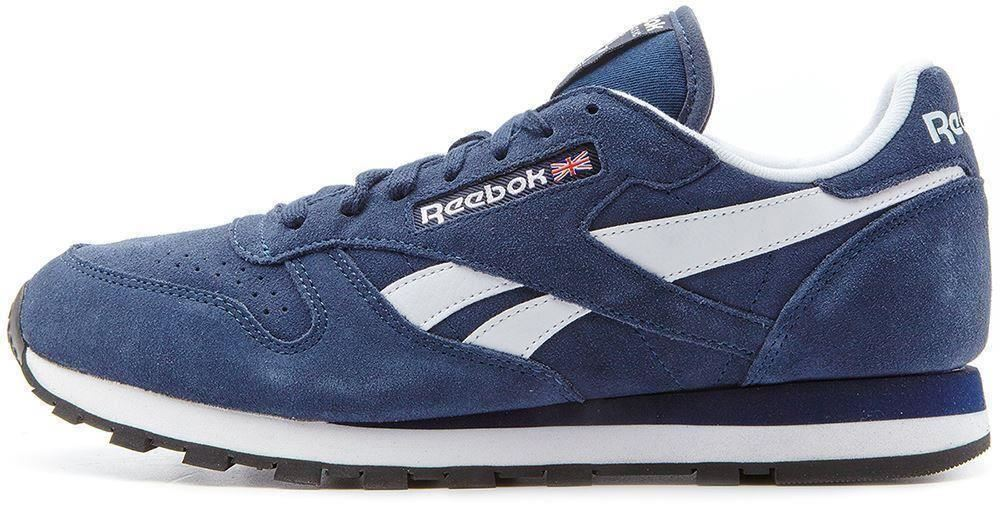 men reebok classic leather suede nylon retro trainers in all sizes ebay. Black Bedroom Furniture Sets. Home Design Ideas