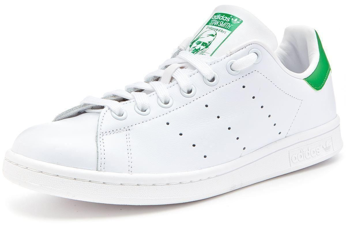 adidas originals stan smith trainers white green m20324. Black Bedroom Furniture Sets. Home Design Ideas