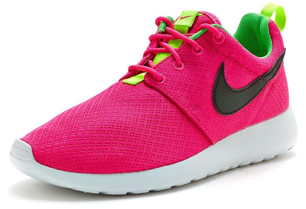 roshe run pink and green