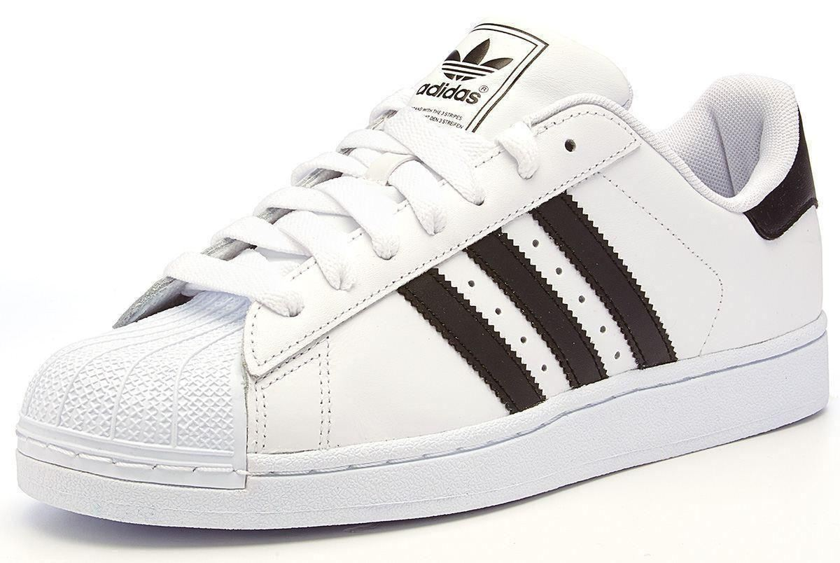 adidas originals superstar 2 ii leather trainers white. Black Bedroom Furniture Sets. Home Design Ideas