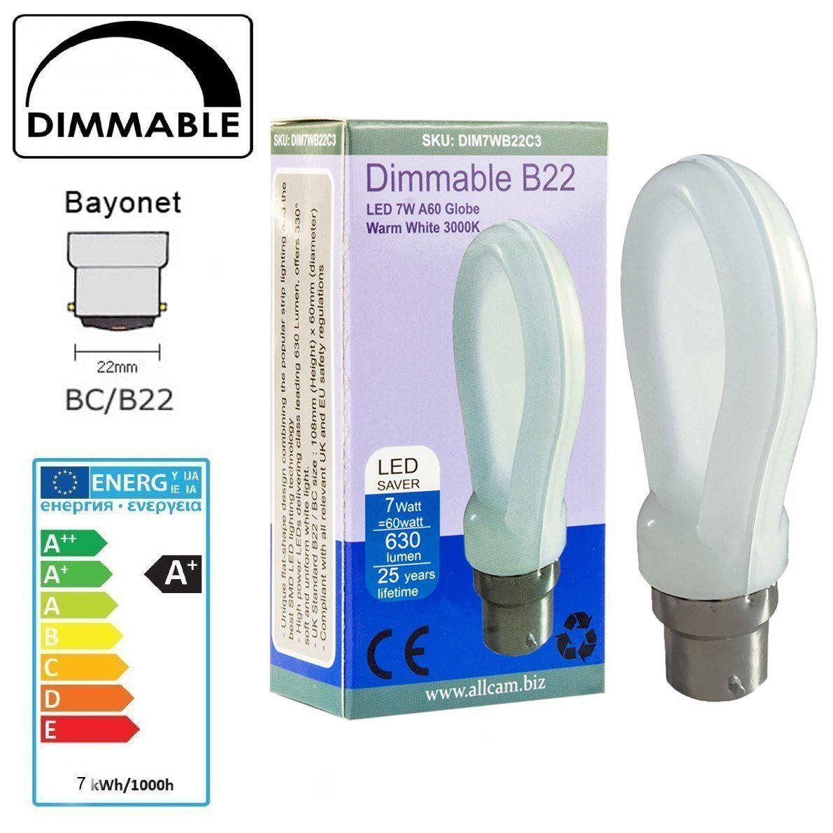 Allcam E27 B22 Led Bulbs Dimmable Regular 10w 7w Globe Cool White Warm White Ebay