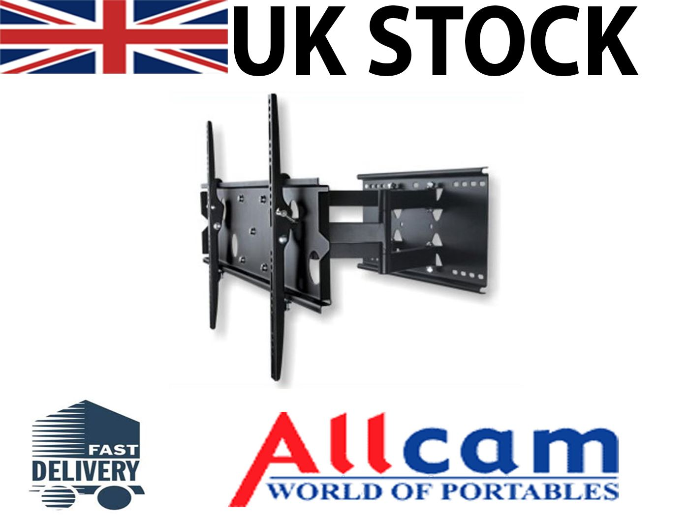 Allcam-PLB-Universal-TV-Wall-Mount-Bracket-Swivel-Pull-Arm-for-19-034-to-70-034-LCD