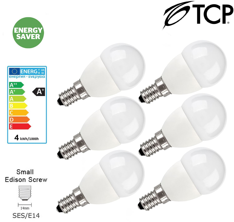 TCP 5W 10W GU10 B22 E27 E14 LED Light Bulbs GLS Cool White ...