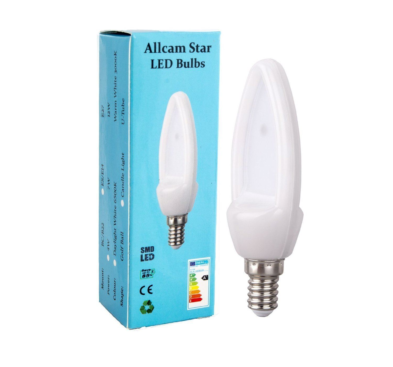 allcam b22 led bulb bc e27 es e14 4w 7w globe or candle. Black Bedroom Furniture Sets. Home Design Ideas