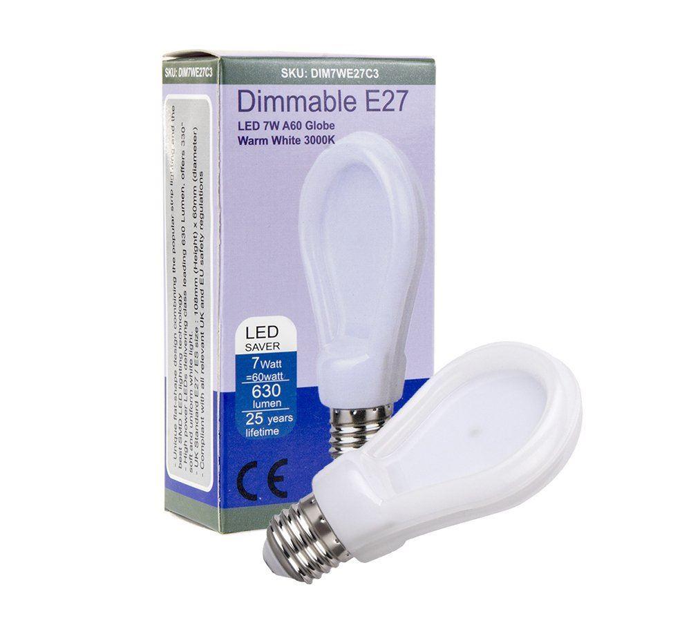 Allcam E27 B22 Led Bulbs Dimmable Regular 10w 7w Globe Cool White Warm White