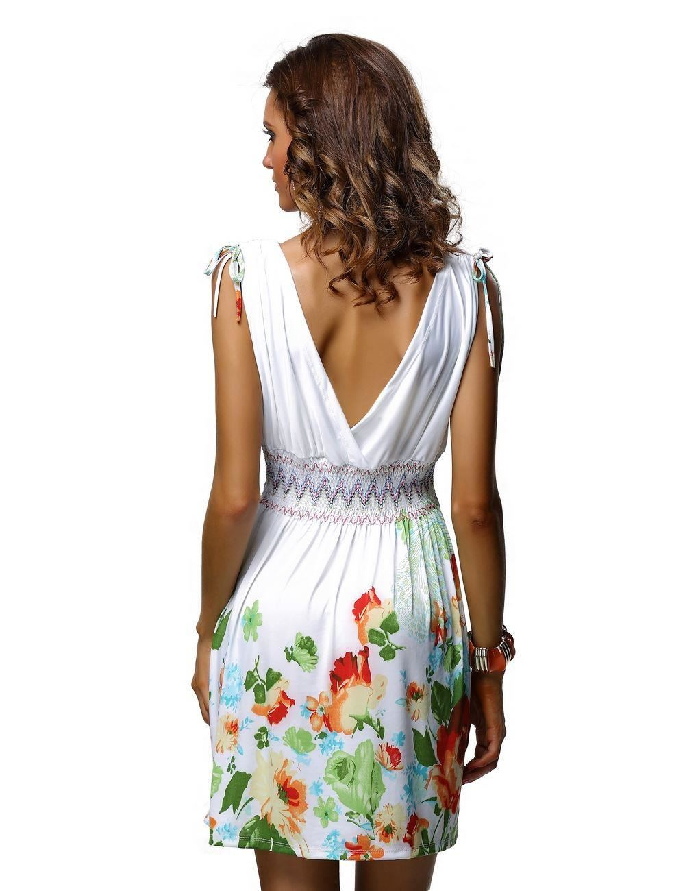 tropical short dress: