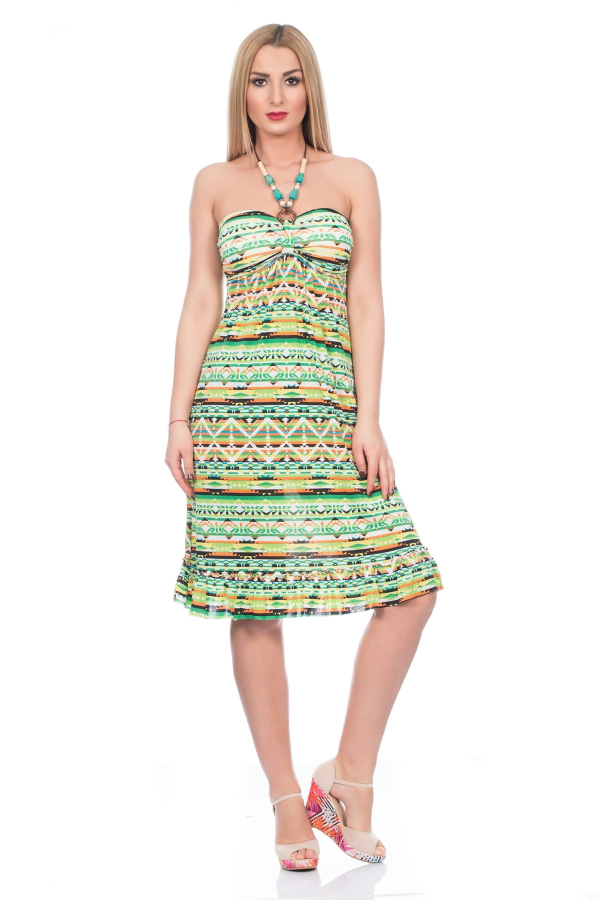 Uk womens sexy short dress aztec ladies summer shorts
